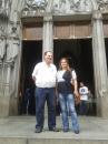 Con la escritora Eltania Andre, en la Plaza de la Fe, San Pablo, 16 de noviembre de 2016